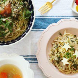 1歳児と「取り分け」ができるレシピ:和風きのこパスタ