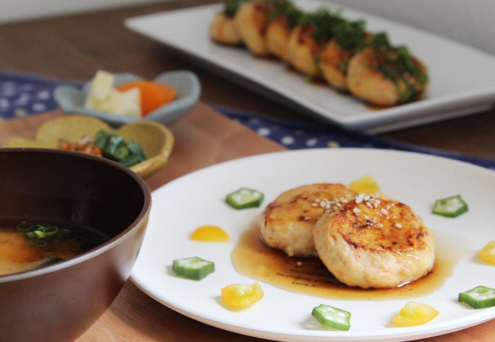 鶏の照り焼ハンバーグ:ふっくらおいしい取り分けレシピ(1歳児〜)
